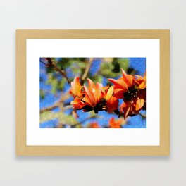 Jungle Flame - Palaash Framed Art Print