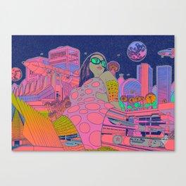 Solar Exudus Vaporwave Canvas Print