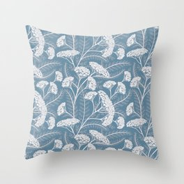 The Mary Collection - blue 2 Throw Pillow