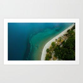 Lake Hawea lake wakatipo blue crystal clear Art Print