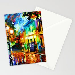 Tardis Art And The Light Street Stationery Cards