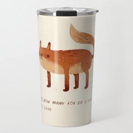zero fox given Q and A Travel Mug