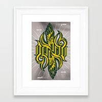starcraft Framed Art Prints featuring Angel 3K ambigram Poster by LoneLeon