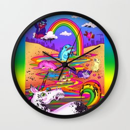 Oil Spill Wall Clock