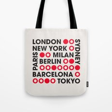 I Love This City Typography Tote Bag