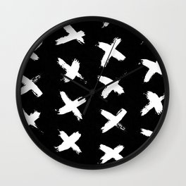 The X White on Black Wall Clock