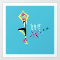 100% Zen Art Print