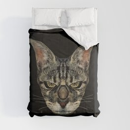 Angry Cyborg Cat  Comforters