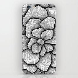 Black mandala iPhone Skin