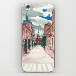 Cloudy street iPhone Skin