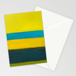 yellow blue Stationery Cards