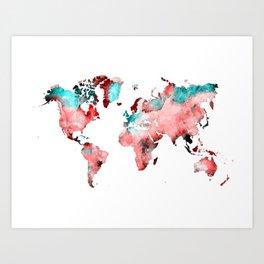 world map 72 Art Print