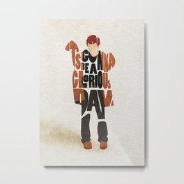 Typography Art of Musical Genius Thom Yorke Metal Print