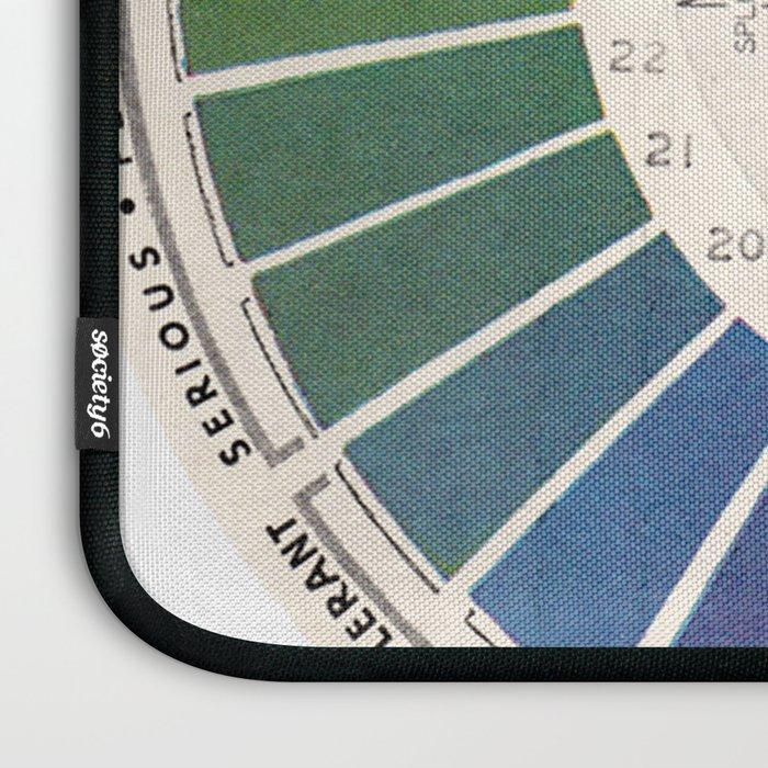 Vintage Color Wheel - Art Teaching Tool - Rainbow Mood Chart Laptop Sleeve
