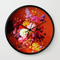 Passion Fruits and Flowers Wall Clock