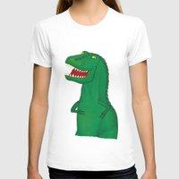 t rex T-shirts featuring T-Rex by Yana Elkassova