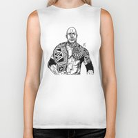 allyson johnson Biker Tanks featuring Dwayne 'The Rock' Johnson by Hollie B