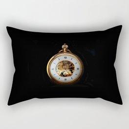 vintage clock_24 Rectangular Pillow