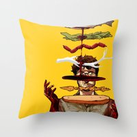 will graham Throw Pillows featuring The Graham Brand by Zenyr