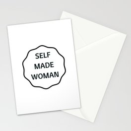 SELF MADE WOMAN Stationery Cards
