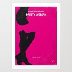 No307 My Pretty Woman minimal movie poster Art Print