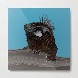 iguana blue Metal Print