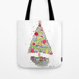 Christmas Tree Sketch Tote Bag