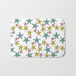 starfish tropical print Bath Mat