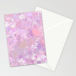 Pink, Purple Paint Splatter Stationery Cards