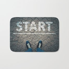 a new start Bath Mat