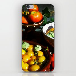 Yellow and red tomatoes II iPhone Skin