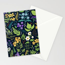 Pattern with flowers. Modern floral background. Stationery Cards