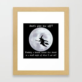 Witch, Witch Flying Across the Moon Framed Art Print
