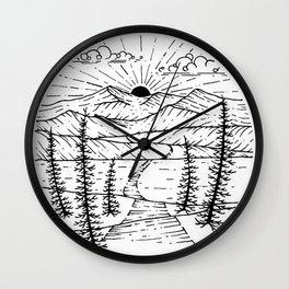 Sunrise Hike Wall Clock