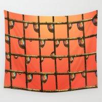 orange pattern Wall Tapestries featuring ORANGE by ThePhotoGuyDarren