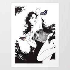 Black Nimf Art Print