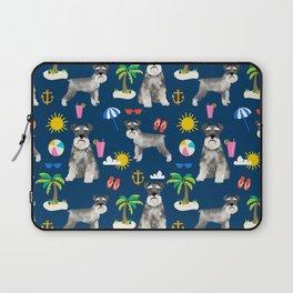 Schnauzer dog breed summer tropical dog pattern gifts schnauzers Laptop Sleeve