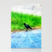 crow Stationery Cards featuring Crow by Geni