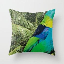 Brasil Tropical Throw Pillow