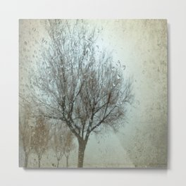 Rainy Winter Day Metal Print
