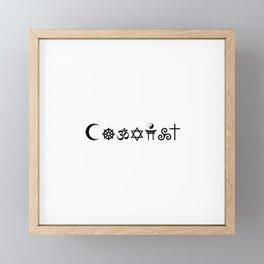 Coexist Cultures Black Framed Mini Art Print