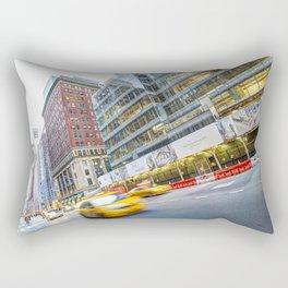 New York Street Scene Rectangular Pillow