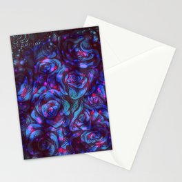 Cosmic Blue Roses Stationery Cards