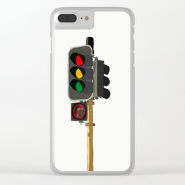 TRAFFIC LIGHT Clear iPhone Case