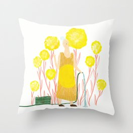 Happy May Throw Pillow