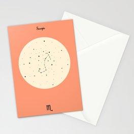 Scorpio - Pink Stationery Cards