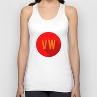 vw bus Tank Tops featuring VW by Barbo's Art