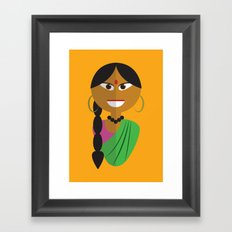 Indian Doll Framed Art Print