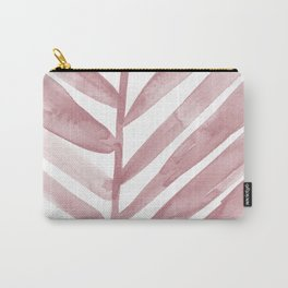 Pink Palm Leaf Crop Carry-All Pouch