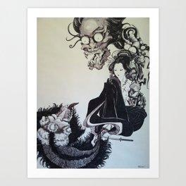Oni Geisha Art Print